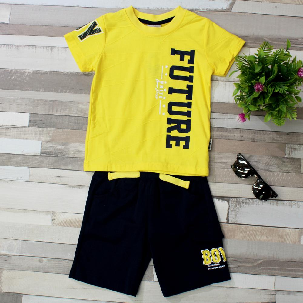 And Summer Child Boy Clothing Set, Baby Clothing Set Boy Petty, Print T-shirt + Short Pants Tracksuit