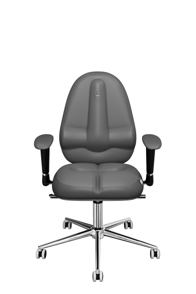 Office Chair KULIK SYSTEM CLASSIC Gray Computer Chair Relief And Comfort For The Back 5 Zones Control Spine
