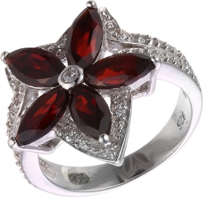 Jay VI Ring With Garnet And Cubic Zirconia