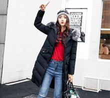 2019 modo nouvelle hiver vestes et manteau doudoune femmes coton col fourrure longo manteau capuche à vêtements dext érieur chaud