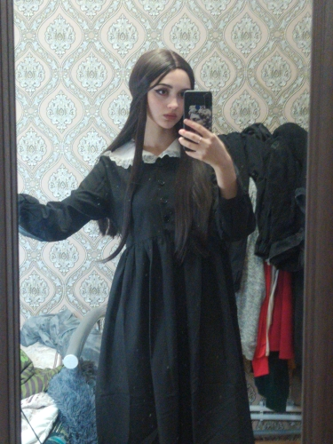 Vintage Harajuku Dress with white Collar photo review