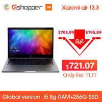 Version mondiale Original Xiao mi mi ordinateur portable 13.3 pouces Air ordinateur portable 8G ram 256G ssd Quad-Core Intel i5 8250U GeForce MX150 DDR4