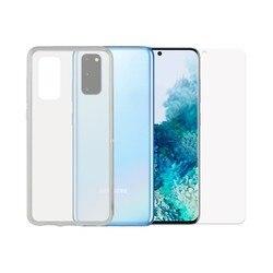 Szkło hartowane mobilny ochraniacz ekranu + etui mobilne Samsung Galaxy S20 kontakt