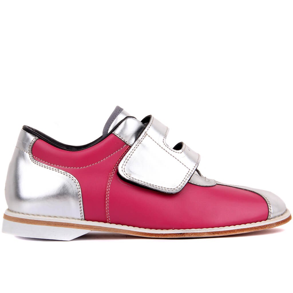 Sail Lakers-Pink Silver Leather Men Casual Shoes