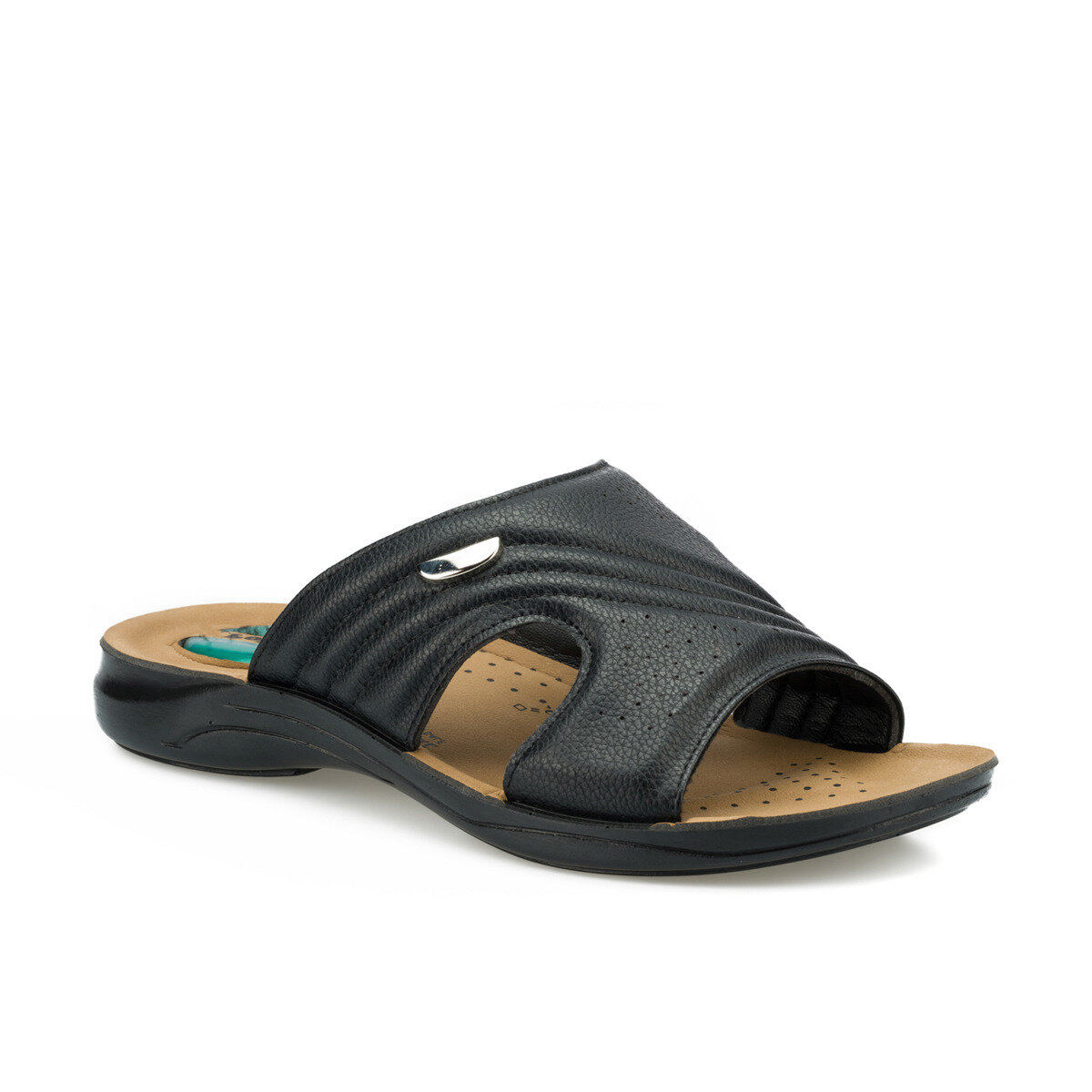 FLO 160270.M Black Male Slippers Polaris