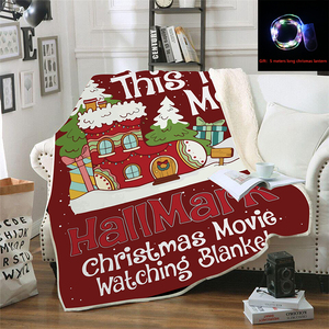 Christmas Movie Blanket Printe