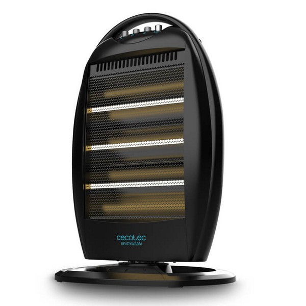 Halogen Heater Cecotec Ready Warm 7100 Quartz Rotate 1200W Black