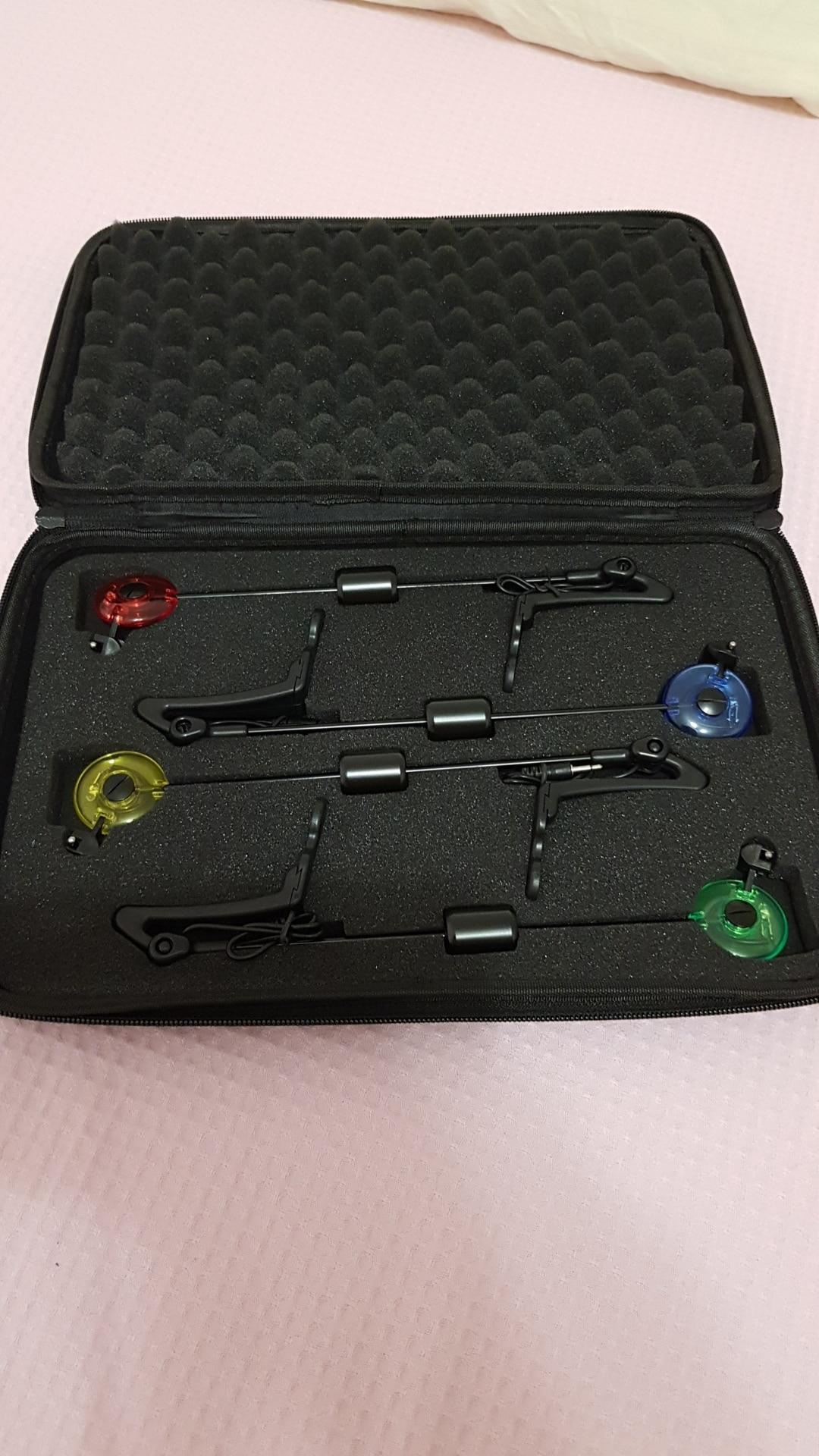 Elibeauty Karpfenangeln Swinger Set LED Drop Off Indikator f/ür Karpfenangeln 4 St/ück in Rei/ßverschlusstasche