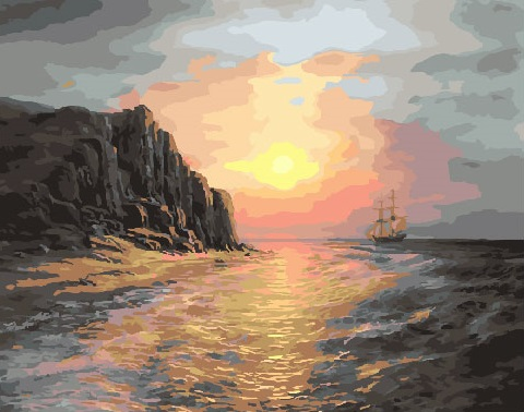 Painting By Numbers GX 27887 Sea At Sunset 40*50