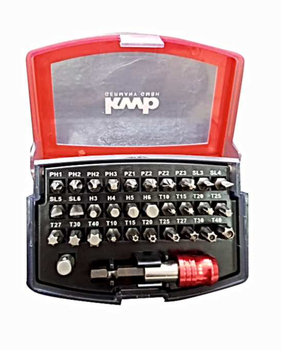 Kwb 118490 Bits Set 32 Piece End