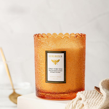 Lavender Amber Scented Jar Candles  3