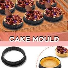 Cruz-borda redonda torre anel de corte molde de plástico anel de bolo anel de cozimento forma redonda retangular silicone pão pan torrada br
