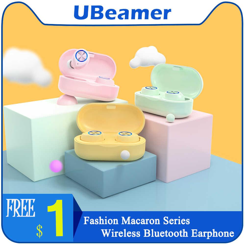Ubeamer Benar Wireles Bluetooth Earphone Hands-Free Game Headphone In-Ear TWS Tahan Air Earbud Sport Headset untuk IOS/Android