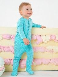 Ползунки для малыша, Котмаркот  Мятные джунгли,хлопок,  5040201