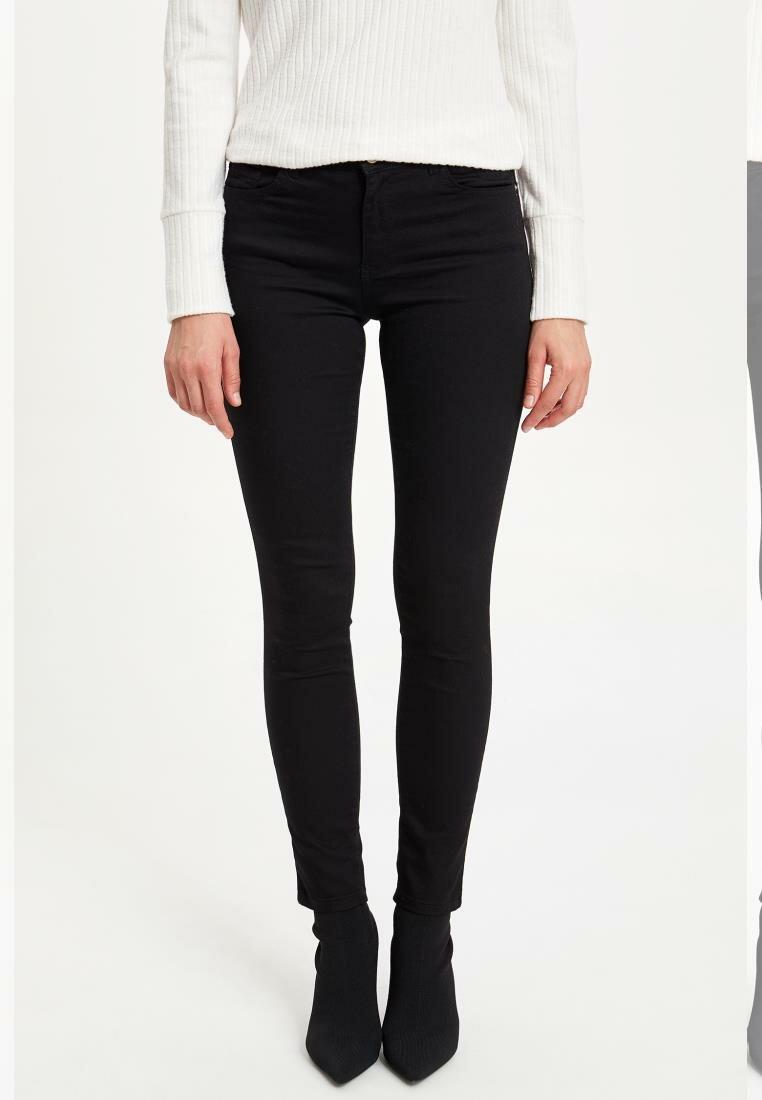 DeFacto Woman Autumn Black Long Pencil Pants Women Skinny Mid-waist Bottoms Female Fit Slim Trousers-M0850AZ19AU