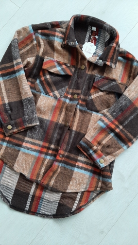 Fashion Baby Girl Plaid Shirt Jacket Cotton Warm Child Shirt Thick Loose Outfit Oversized Winter Spring Fall Baby Clothes 3-14Y photo review
