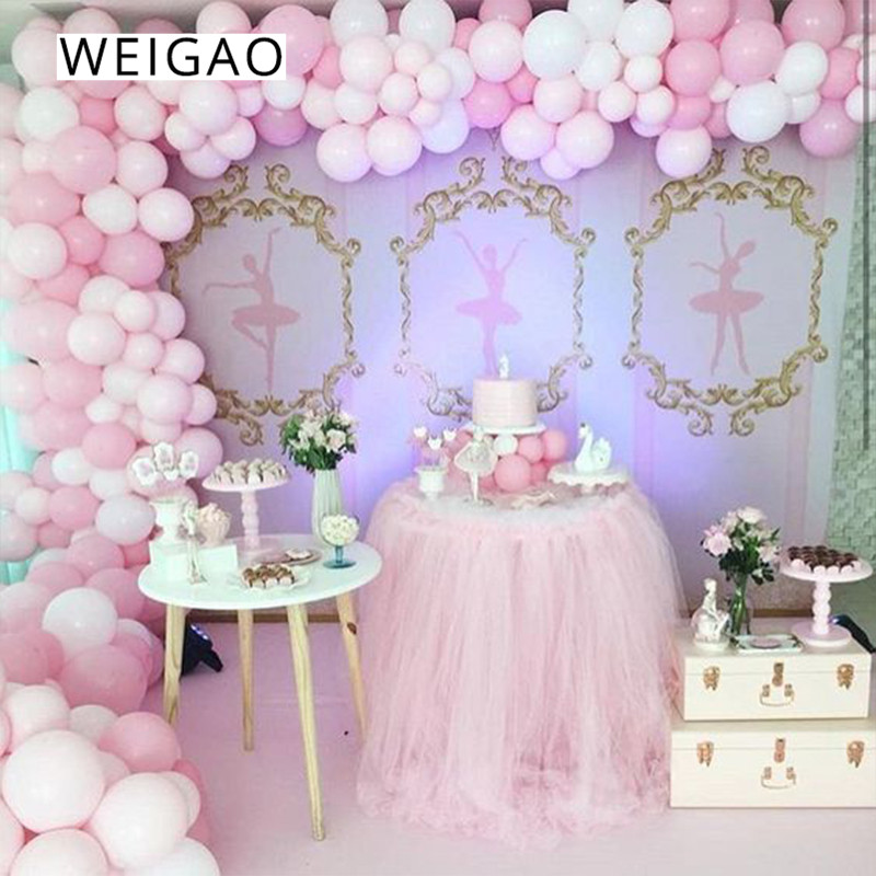 WEIGAO 113pcs Baby Shower Balloon Garland Kit Pink Blue Latex Balloons Arch Boy Girl 1st Birthday Party Decorations