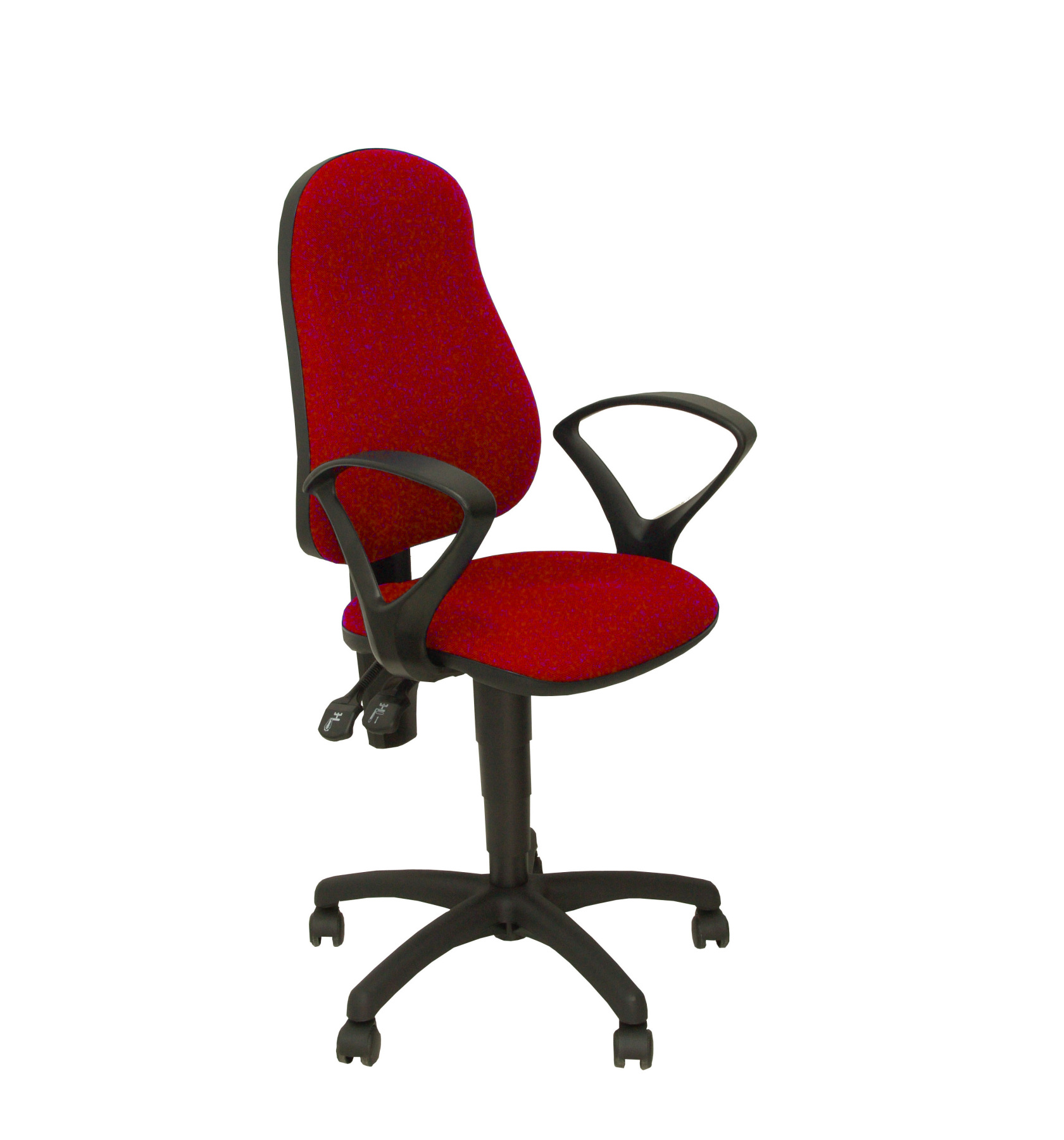Chair's Office Desk Ergonomic With Permanent Contact's House Mechanism Double Handle, Dimmable In High Altitude And Arms Fixed-