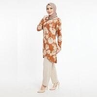 Muslim Women Ramadan Eid Arab Islamic Prayer Dress Syari Abaya Long Tunic Jilbab Evening Wedding Dresses Hijab Eid Mubarak is the Fashion and Dress 2020 Patterned Tunic and Trousers Double Suit Set Women Clothing 6158