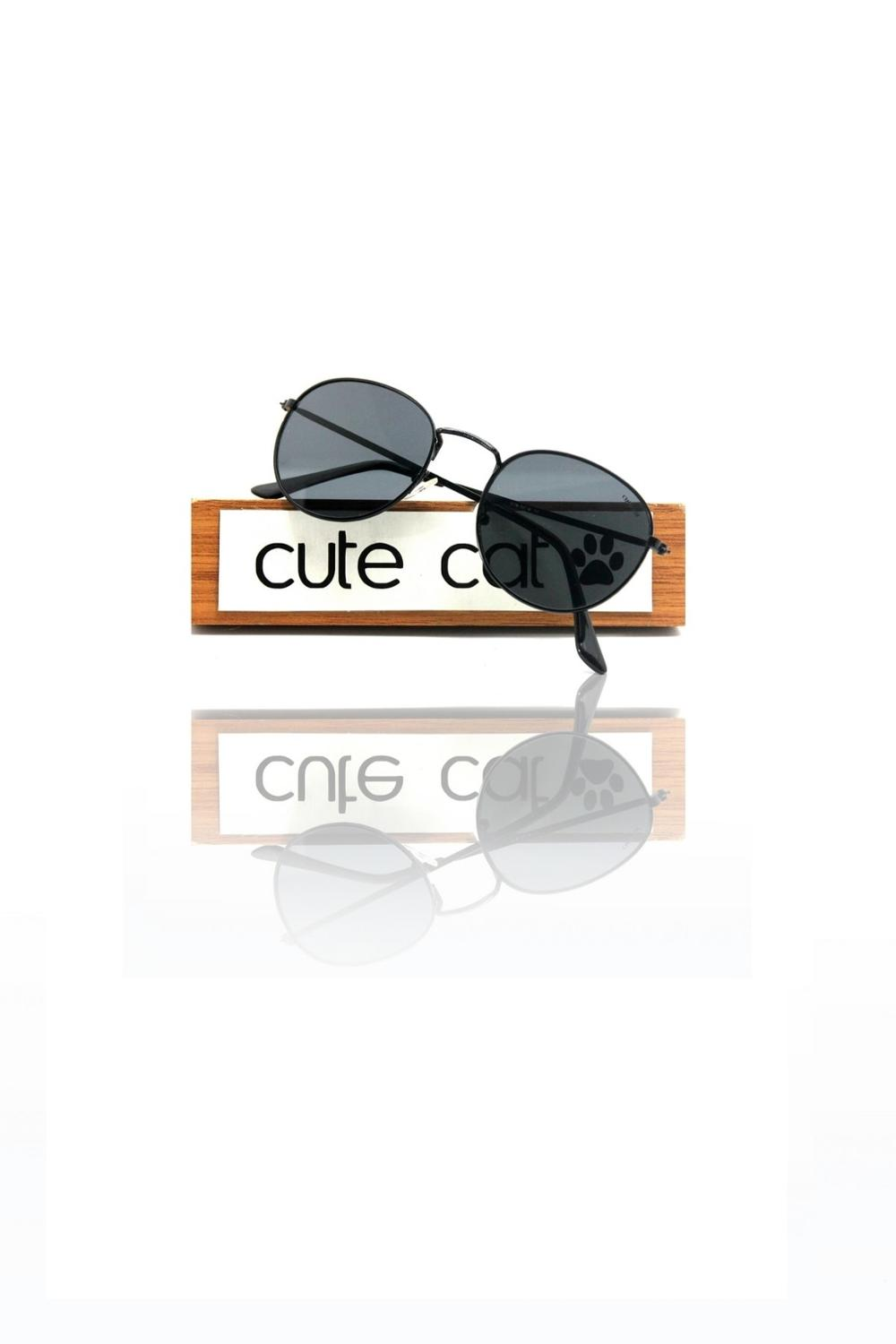 Made In Turkey Cute Cat Flat Round Metal Sunglasses Uv400 Rayban Designed Uv400 Fashion 2020 Sunglasses Rayban Style
