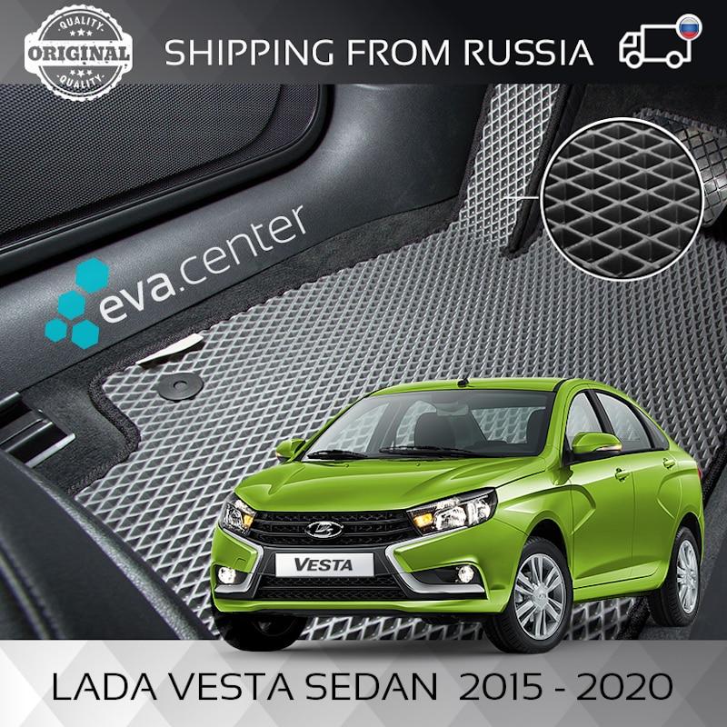 Tapis de voiture EVA sur le Lada Vesta berline 2015-2020 ensemble de 4x tapis et cavalier/Eva tapis voiture