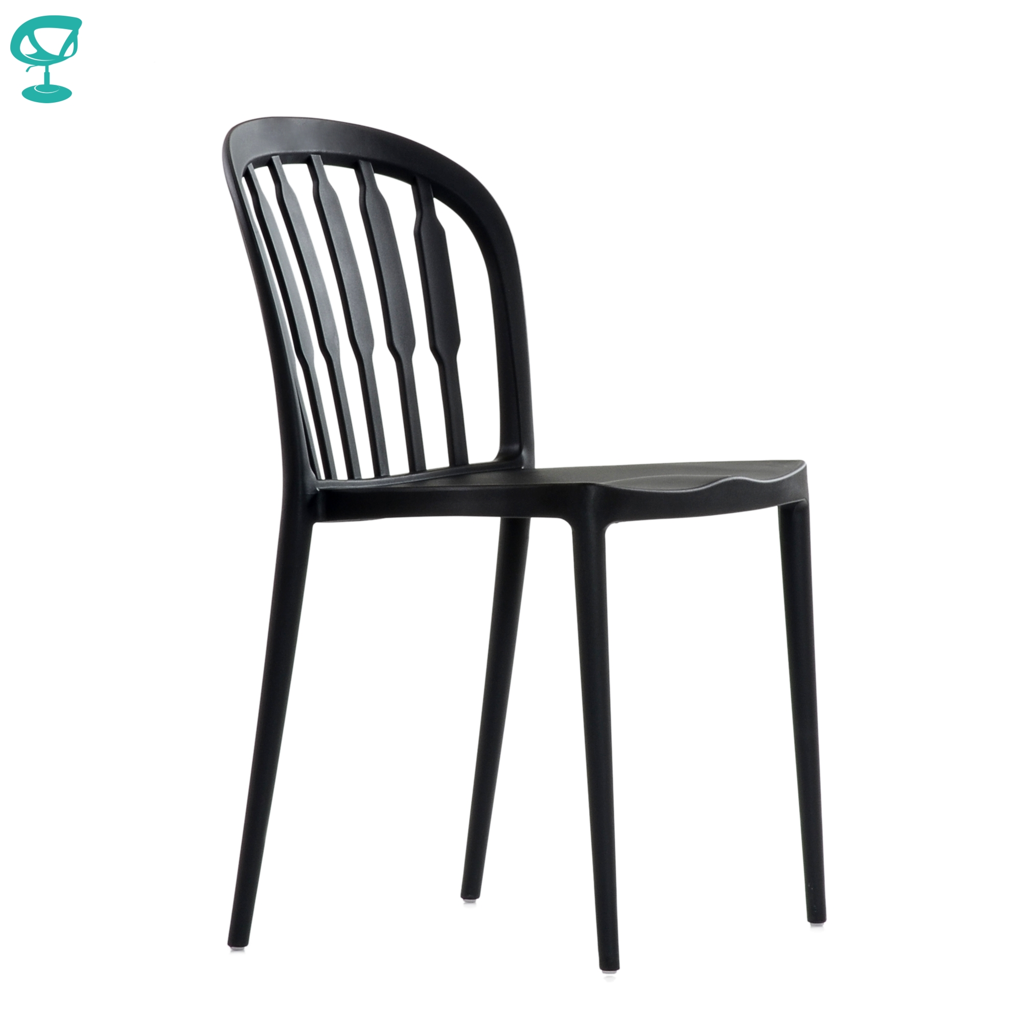95718 Barneo N-216 Plastic Kitchen Interior Stool Chair For A Street Cafe Chair Kitchen Furniture Black Free Shipping In Russia