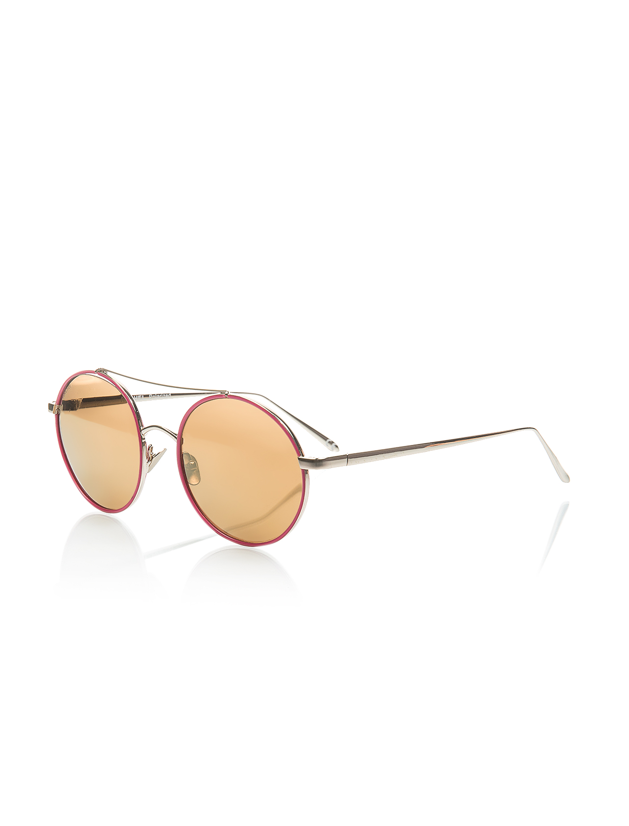 Women's sunglasses rh 16706 06 metal pink organic round round 52-20-140 rachel