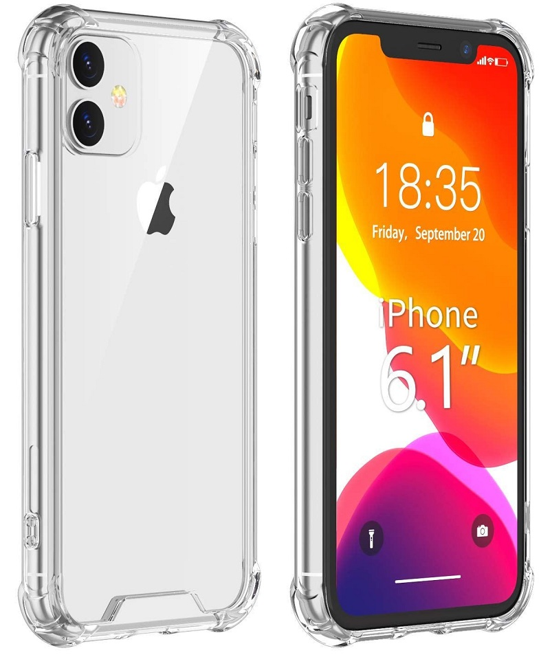 Stand Case For IPhone 11 (6.1 '') Shockproof Gel Clear Anti-Shock Reinforced