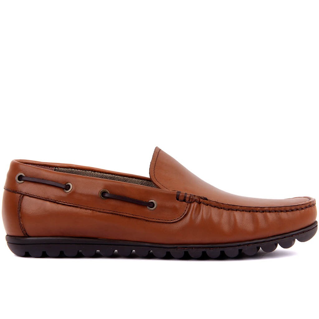 Sail Lakers-Tan Genuine Leather Men Casual Shoes Luxury Brand 2019 Mens Loafers Moccasins Breathable Slip On Driving Shoes Size 40-45