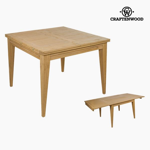 Expandable Table Mindi Wood (100 X 100 X 78 Cm) By Craftenwood