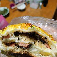 火腿肉松面包的做法图解4