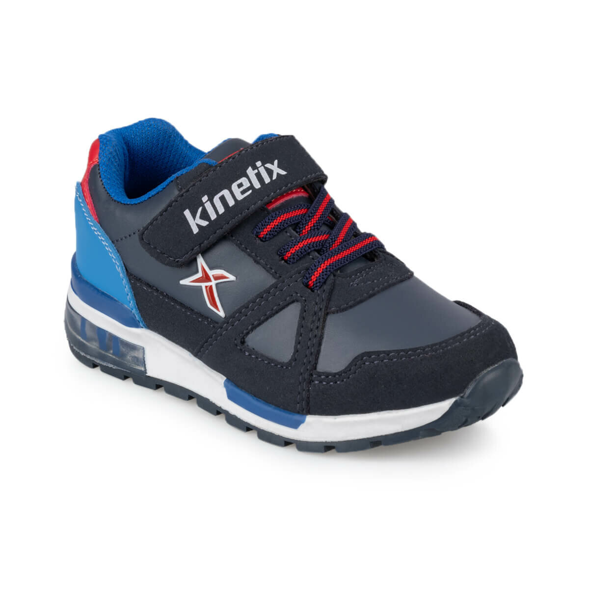 FLO RIVERO PU 9PR Navy Blue Male Child Sneaker Shoes KINETIX