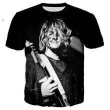 Летняя модная футболка с 3d принтом nirvana для мужчин и женщин
