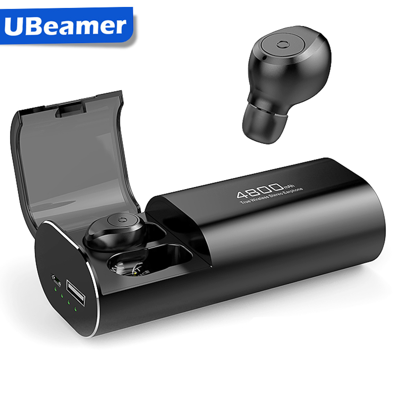 Ubeamer 5.0 Bluetooth Earphones 2020 Best TWS True Wireless Headphones With Mic In-ear Human Earbuds For Sport Workouts,Xaomi