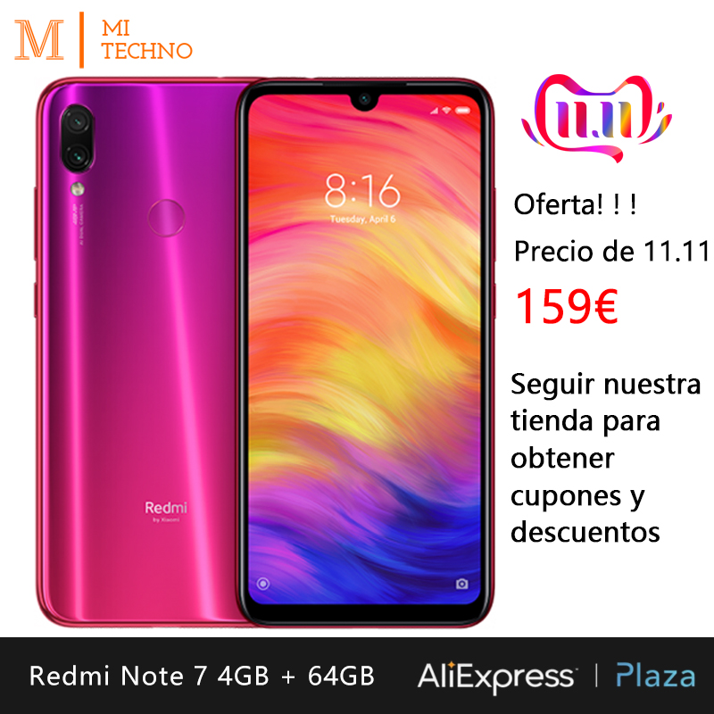 [Global Version] Xiaomi Redmi Note 7 Smartphone HD+ 6.3(RAM 4GB + ROM 64GB, 4000mAh Battery, 48MP Camera)