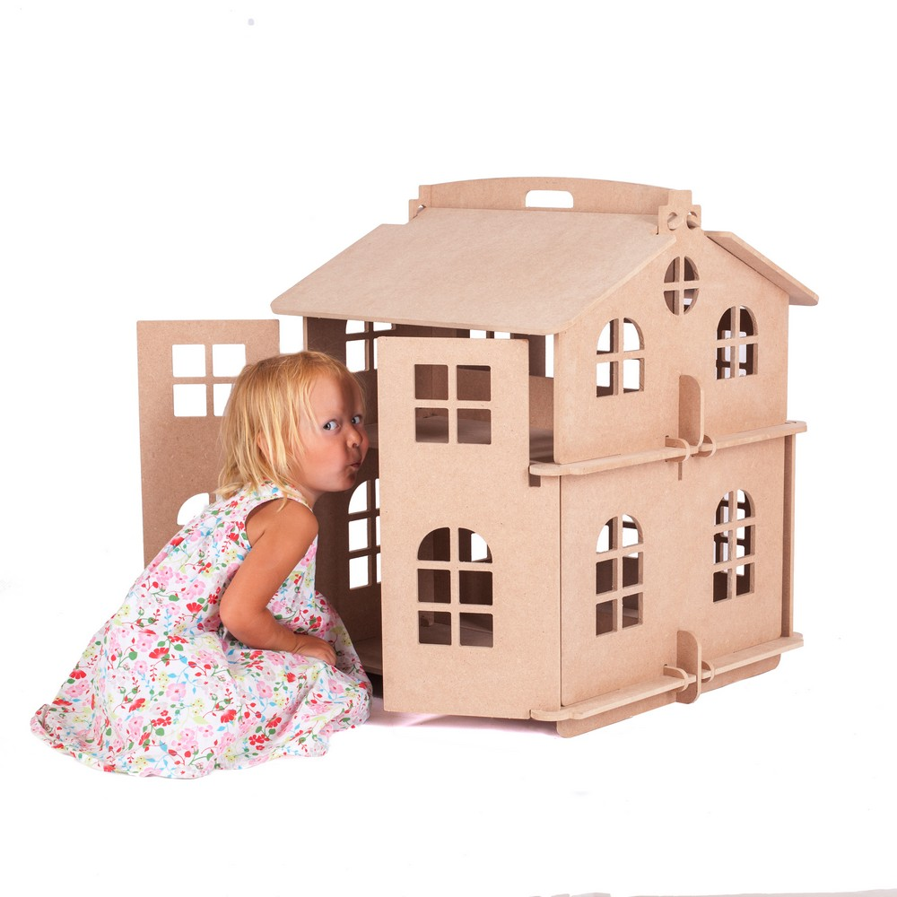 Doll House Watch Home Boy Girl Dolls Dollhouse  Home Best Gift Toy Wooden House Doll Accessory Block Part Puzzle Action 000-310