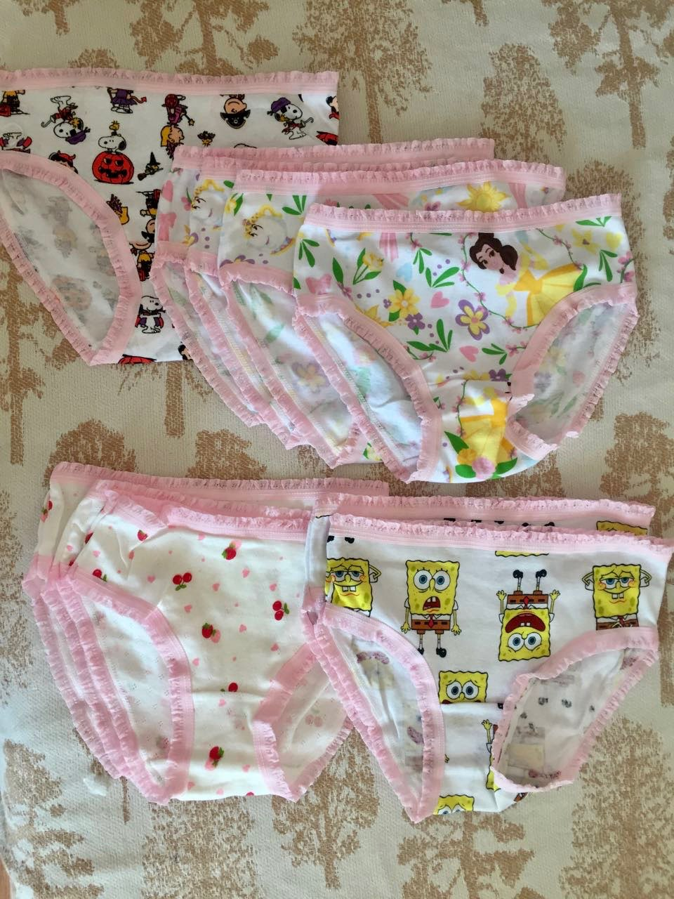 Wholesale(10pcs/lot) Cartoon Design Underwear For Children Kid, 100% Cotton Girls Shorts Underpants Knickers, Free shipping photo review