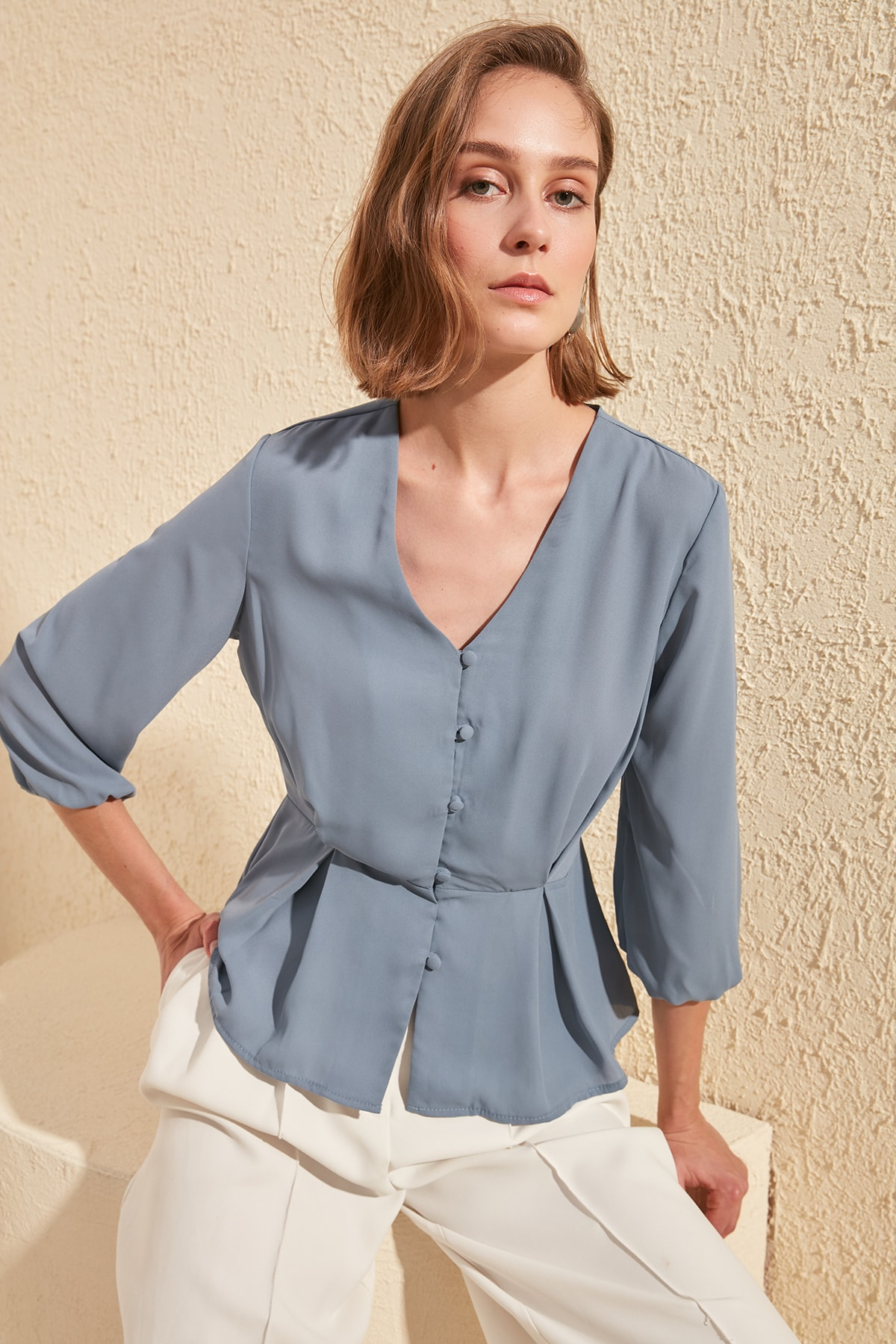 Trendyol Front Buttoned Blouse TWOSS20BZ0355