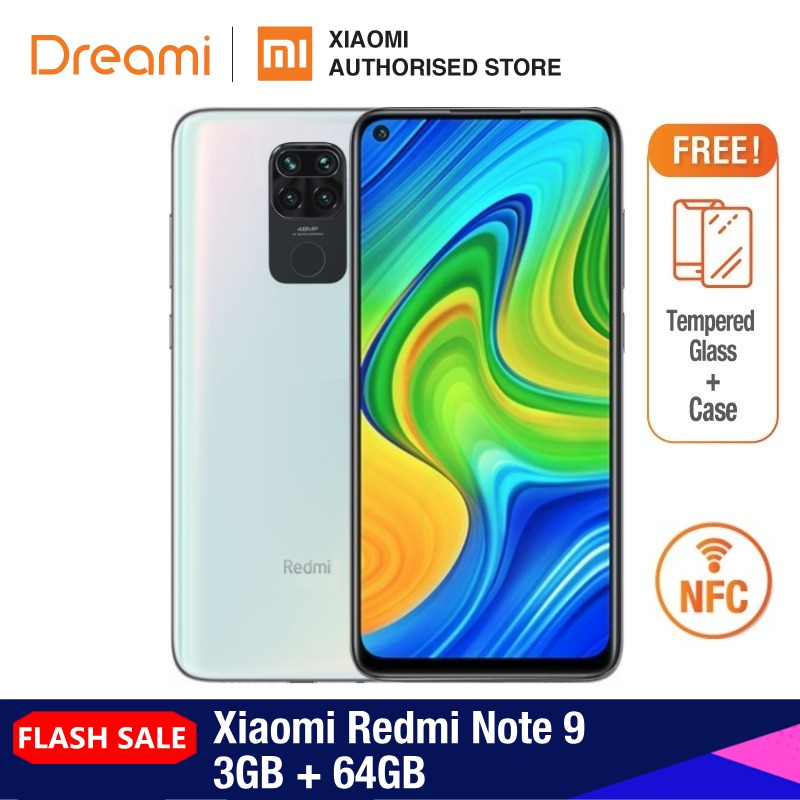 Xiaomi Redmi Note-9 3GB-RAM 64GB Adaptive Fast Charge Fingerprint Recognition 48mp/8mp/2mp