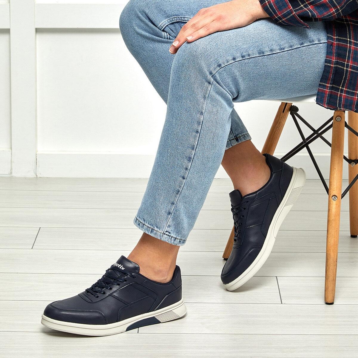FLO WAREN Navy Blue Men 'S Sneaker Shoes KINETIX
