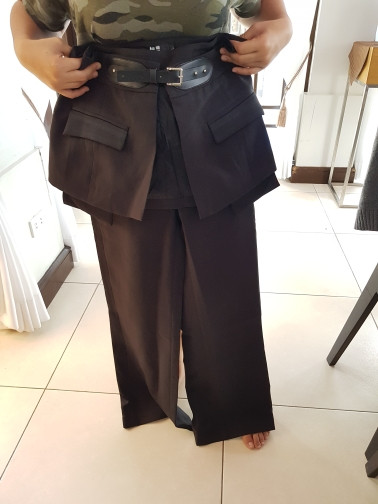 Spring Trouser For Women'S Wide Leg Pants With Belts High Waist Loose Hit Colors Pants Female Elegant Clothes photo review