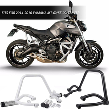 Black Subcage Stunt Rear Passenger Peg for Yamaha MT FZ 09 Tracer MT-09 FZ-09