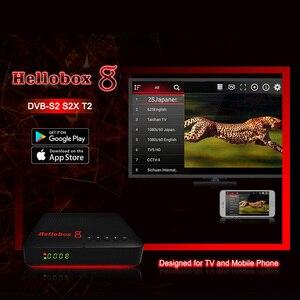 Image 2 - Hellobox 8 receptor de satélite digital h.265 hd completo 1080p dvb c DVB S2 DVB T2 combinação cccam receptor suporte tv jogar no telefone
