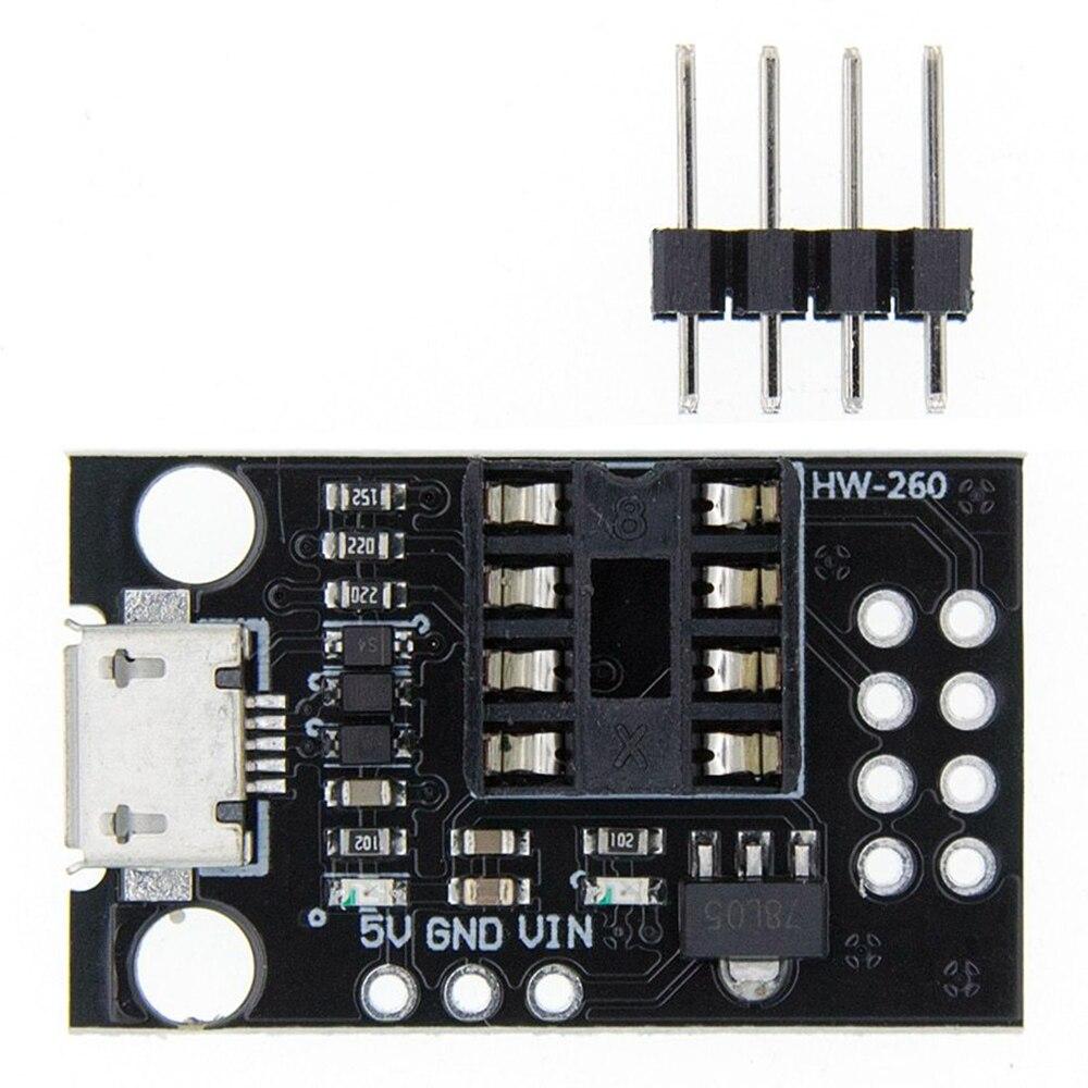 Taidacent 10 Pc ATtiny13A/ATtiny25/ATtiny45/ATtiny85 Module Pluggable Development Programmable PCB Board DIP-8 Pin Adapter Board
