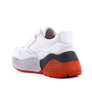 Image 4 - Sail lakers sapatos esportivos casuais femininos de couro branco