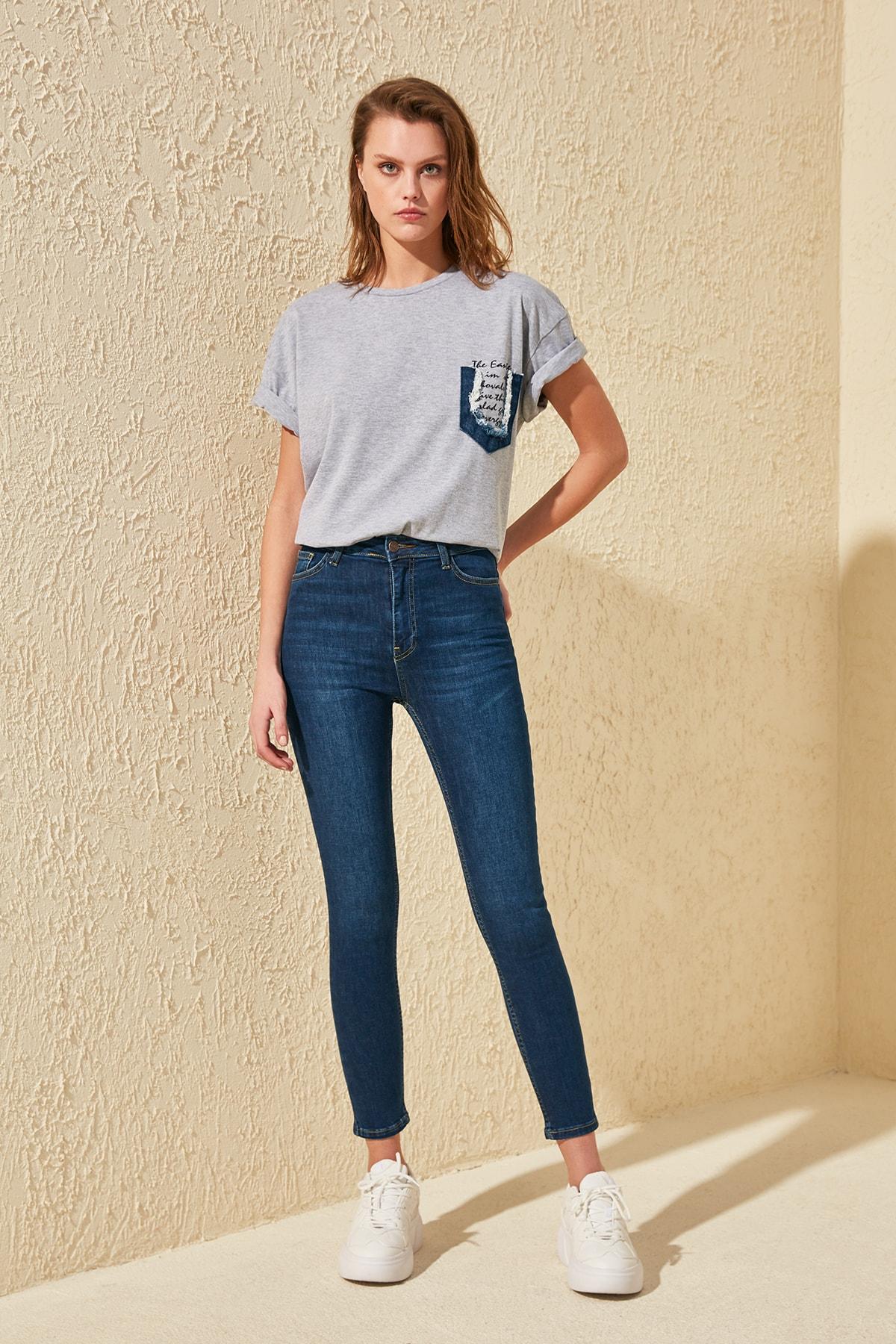 Trendyol Normal Waist Skinny Jeans TWOSS20JE0036