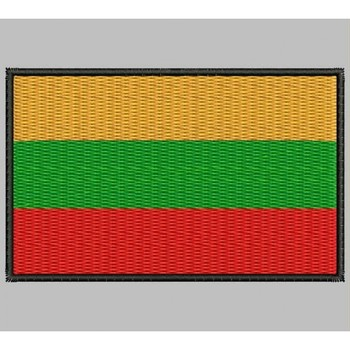 Bandera Lituania Para Mascarilla Parche Bordado Sắt Miếng Dán Toppa Ricamata Gestickter Miếng Dán Miếng Dán Brode