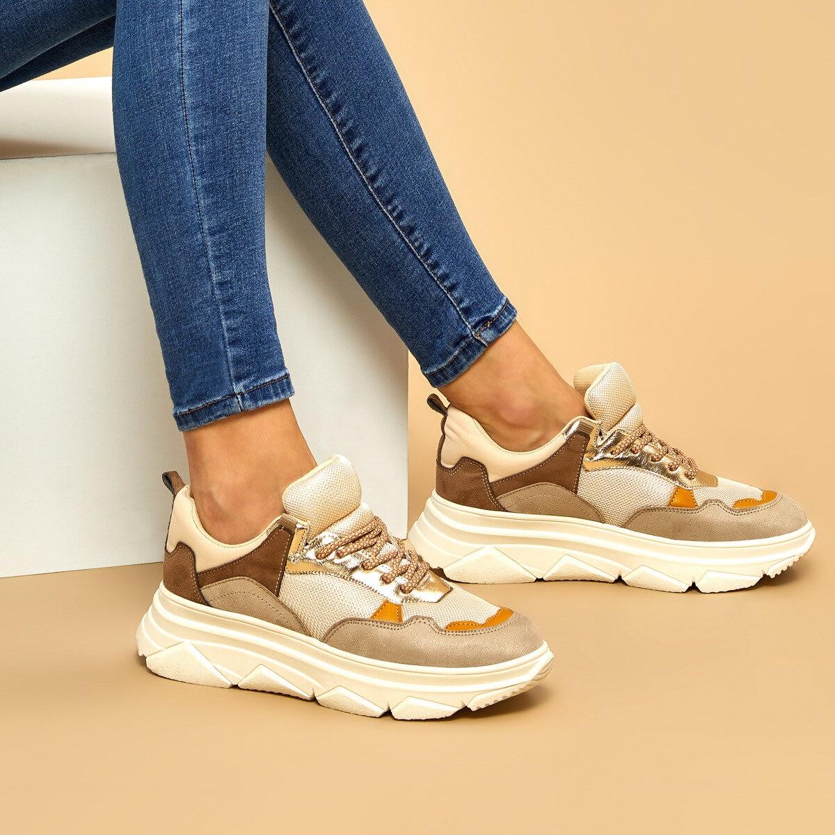 FLO MOLDE Beige Women 'S Sneaker BUTIGO