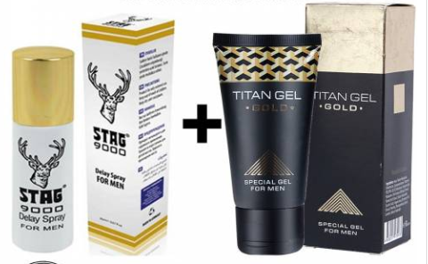 Male Sex Delay Spray And Titan Gold Erection Cream For Discreet Packaging Free Shipping