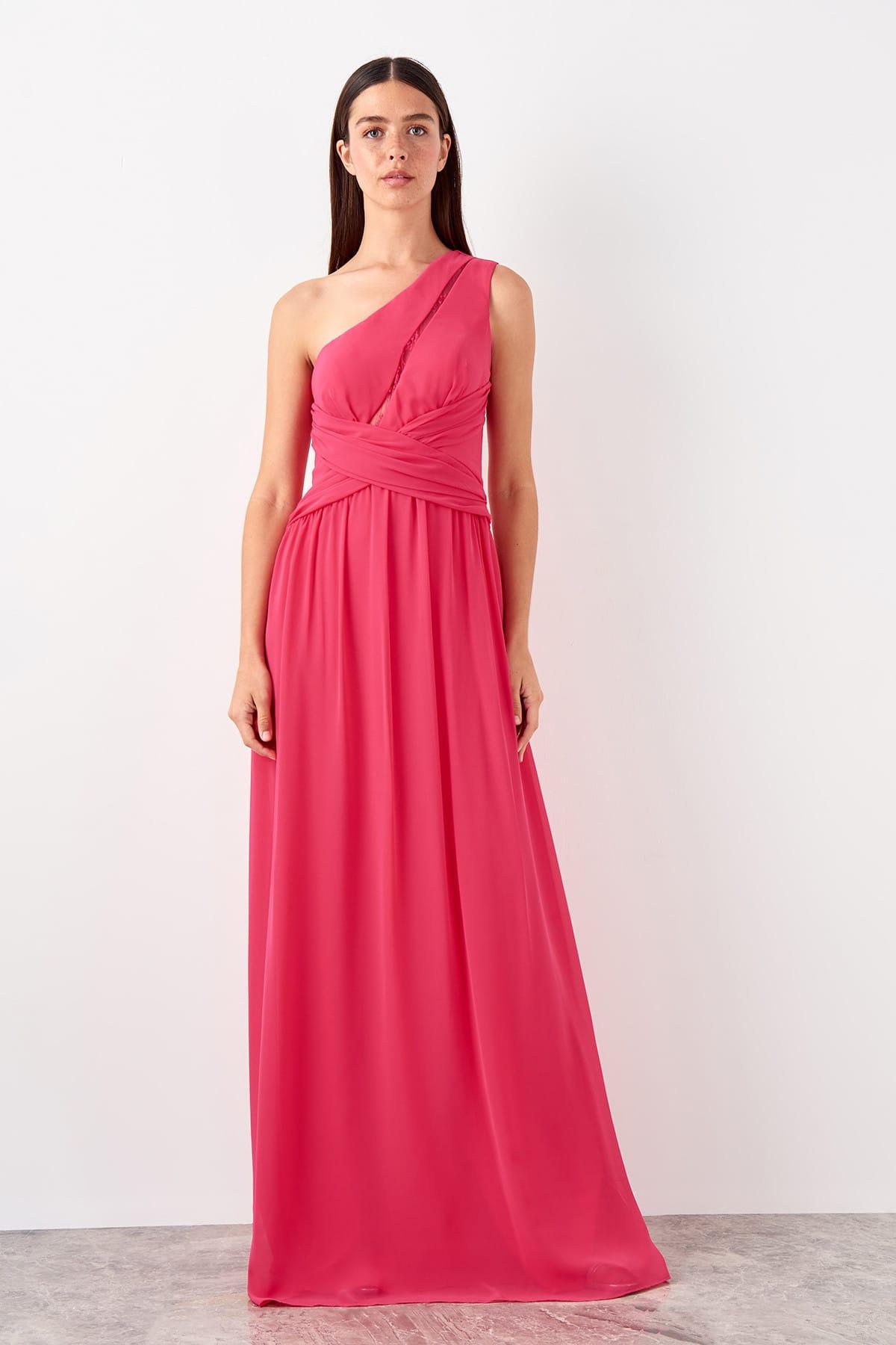 Trendyol Lace Drop Collar Detail Evening Dress Dress TPRSS19AE0121